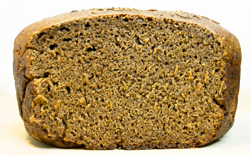Ржаной хлеб «Бабушкинский». С варенным картофелем, на закваске.