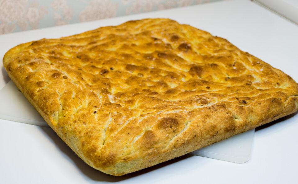 Хлеб с луком пореем и бразильским орехом./Leek Bread.